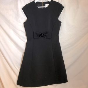 Kate Spade Black Dress with Front Waist Bow Size 6